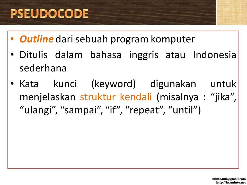 PSEUDOCODE Outline dari sebuah program komputer