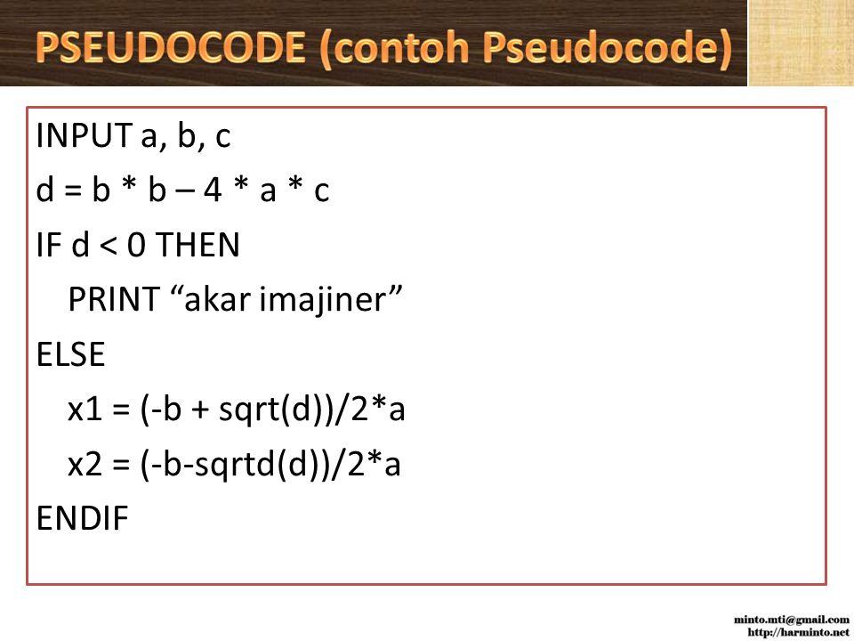 PSEUDOCODE (contoh Pseudocode)