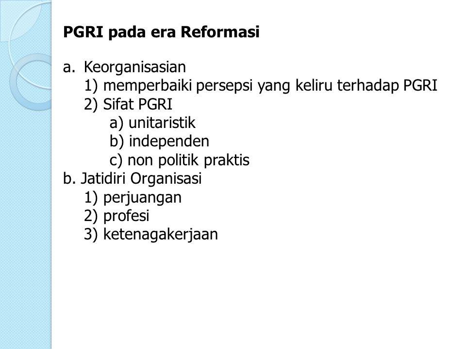 PGRI pada era Reformasi