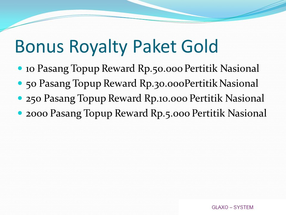 Bonus Royalty Paket Gold