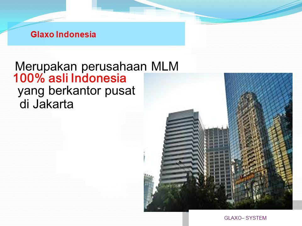 Merupakan perusahaan MLM