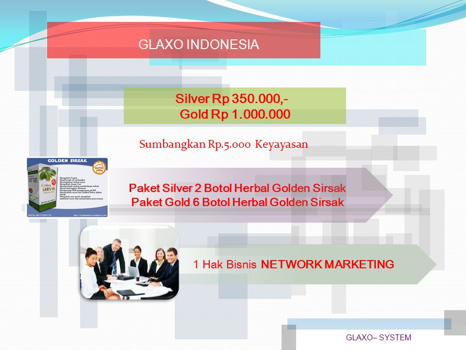 GLAXO INDONESIA Silver Rp 350.000,- Gold Rp 1.000.000
