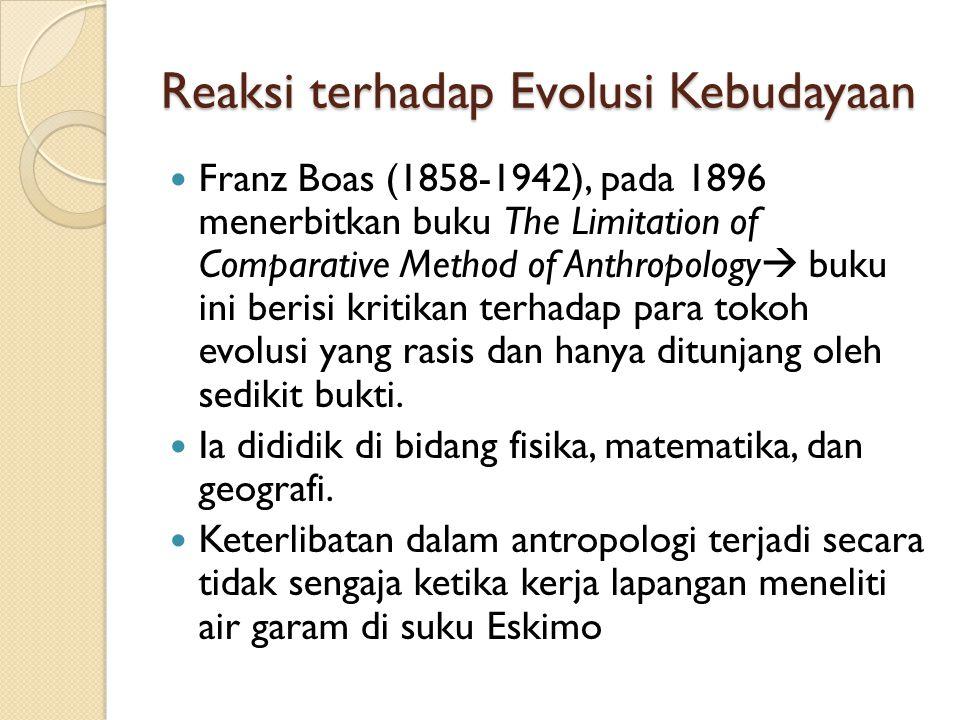 Reaksi terhadap Evolusi Kebudayaan