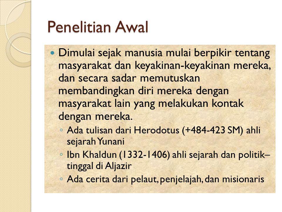 Penelitian Awal