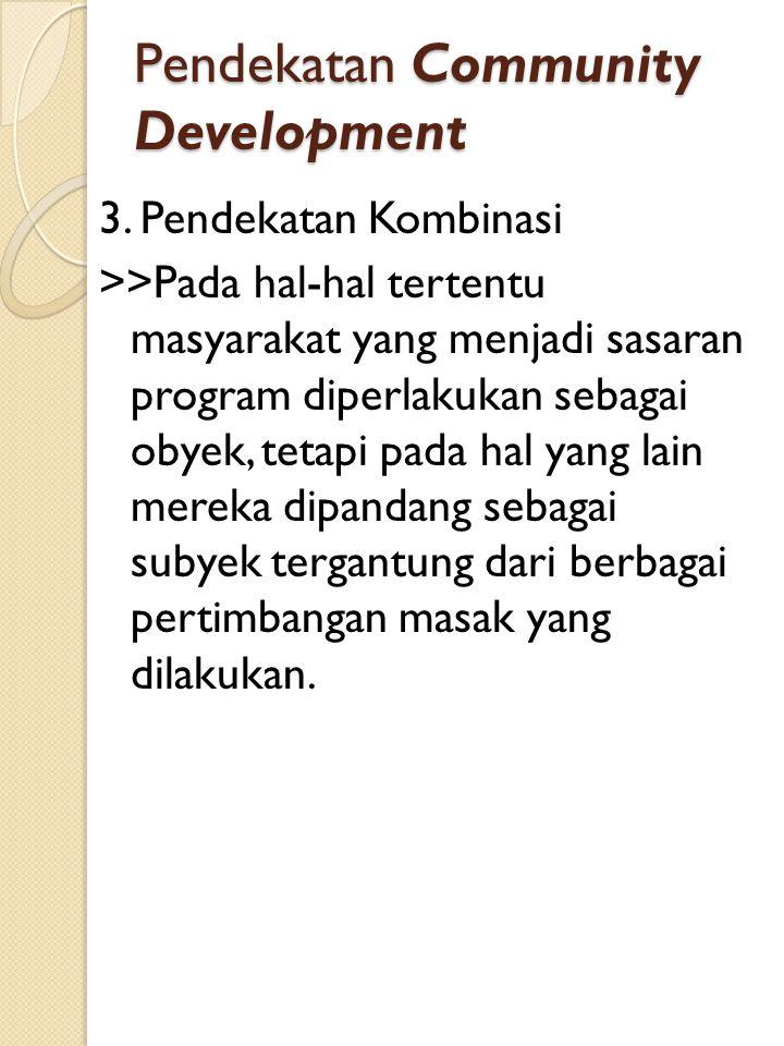 Pendekatan Community Development