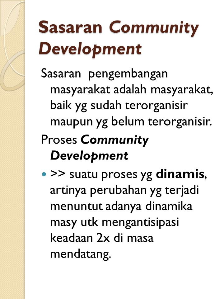 Sasaran Community Development