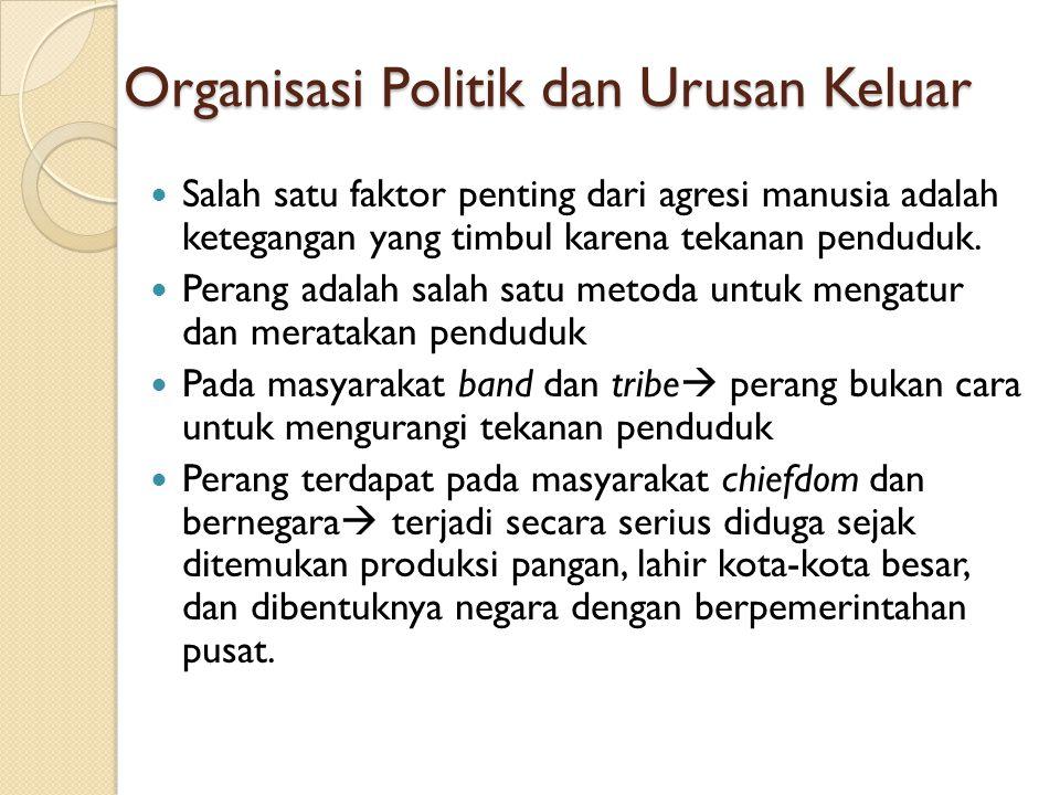 Organisasi Politik dan Urusan Keluar