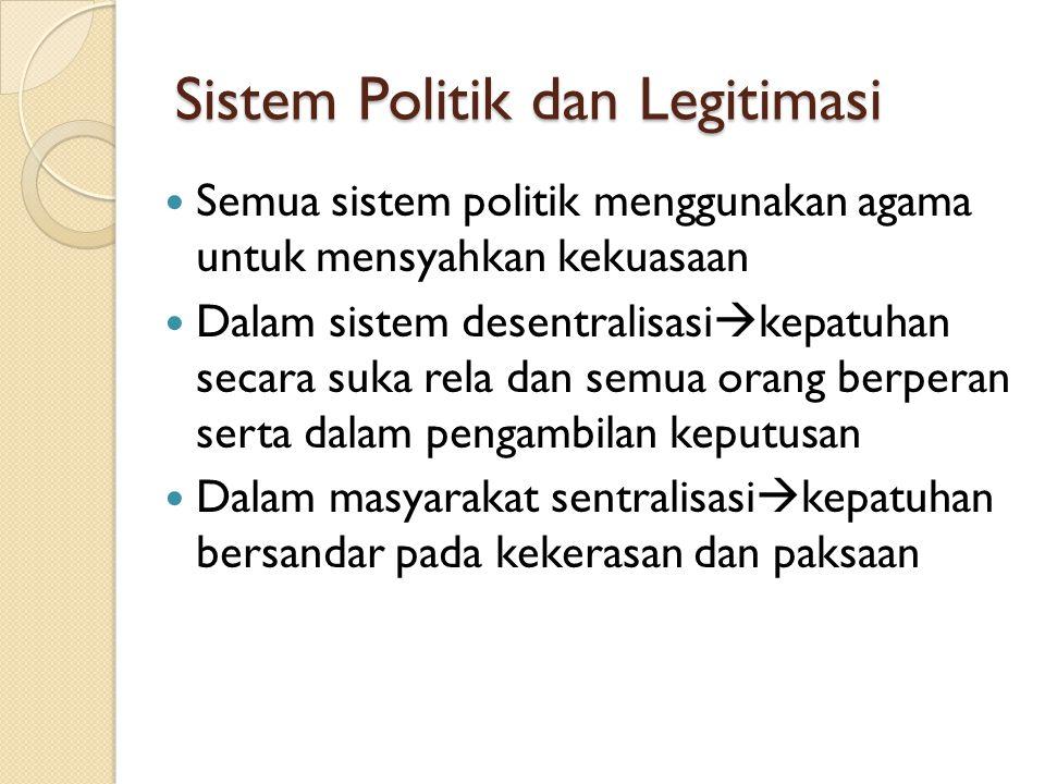 Sistem Politik dan Legitimasi