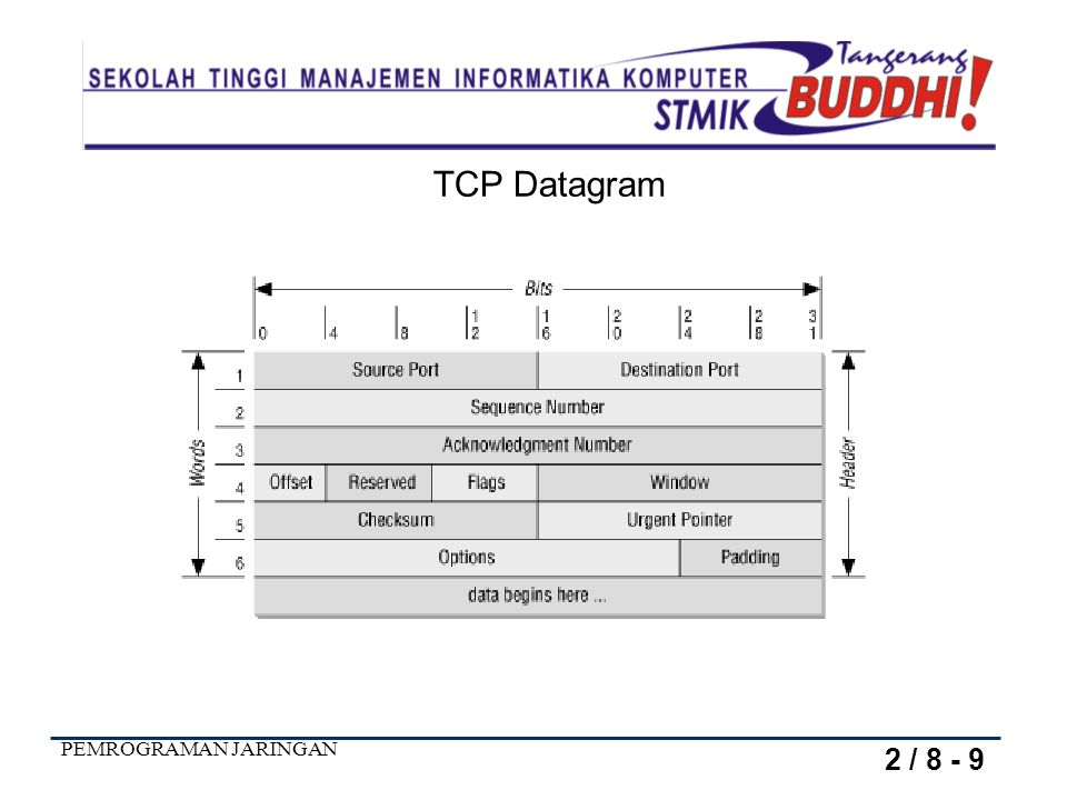 TCP Datagram 2 / 8 - 9