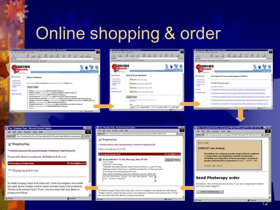 Online shopping & order