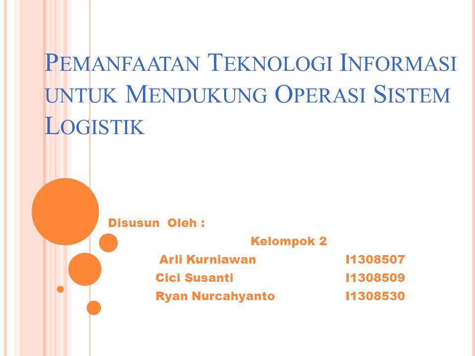 Pemanfaatan Teknologi Informasi untuk Mendukung Operasi Sistem Logistik
