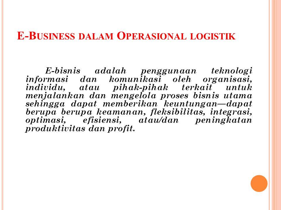 E-Business dalam Operasional logistik