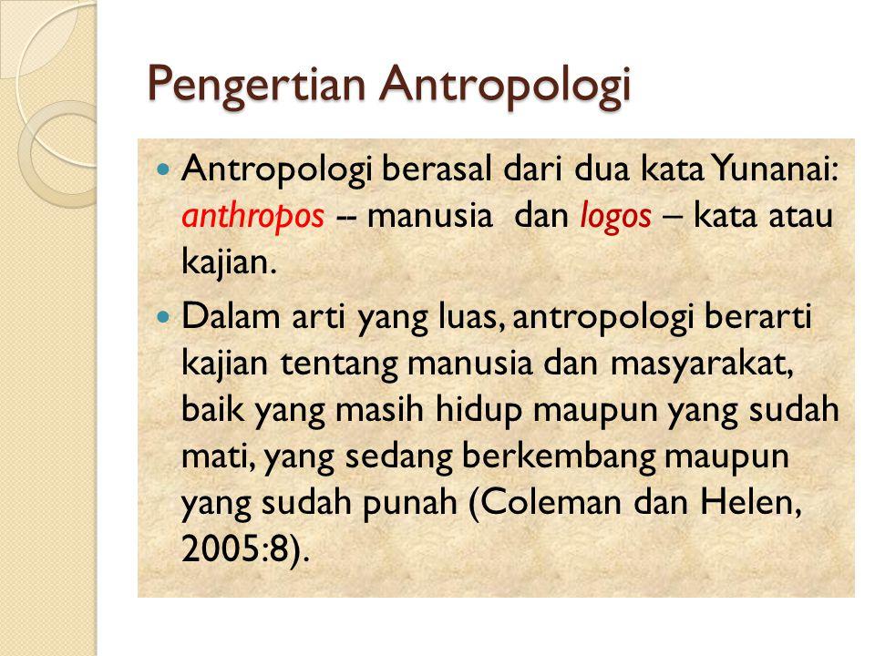 Pengertian Antropologi