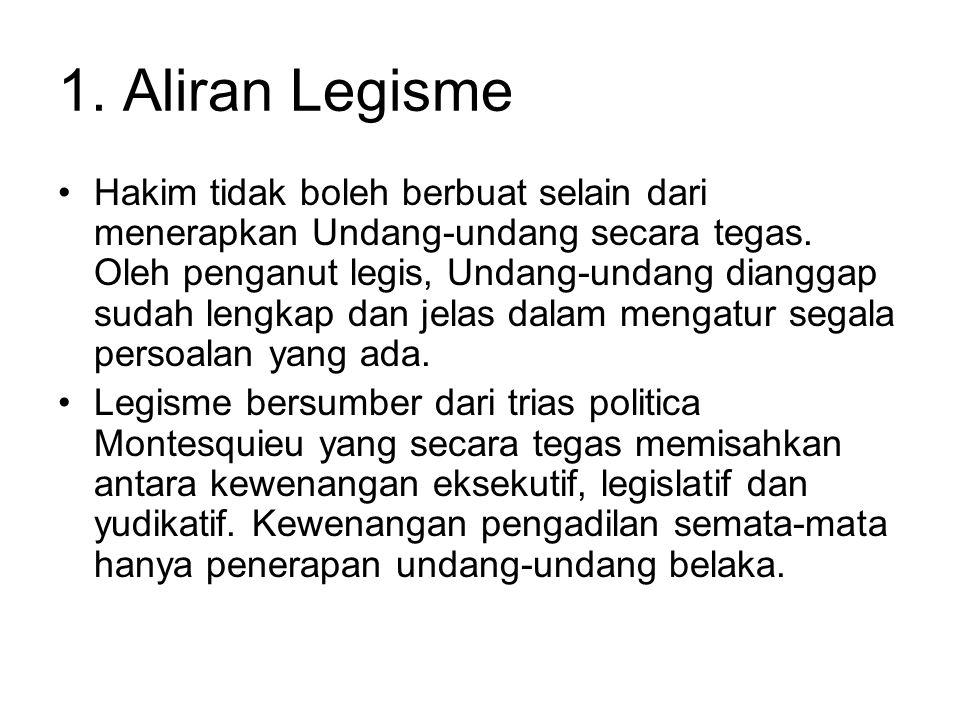 1. Aliran Legisme