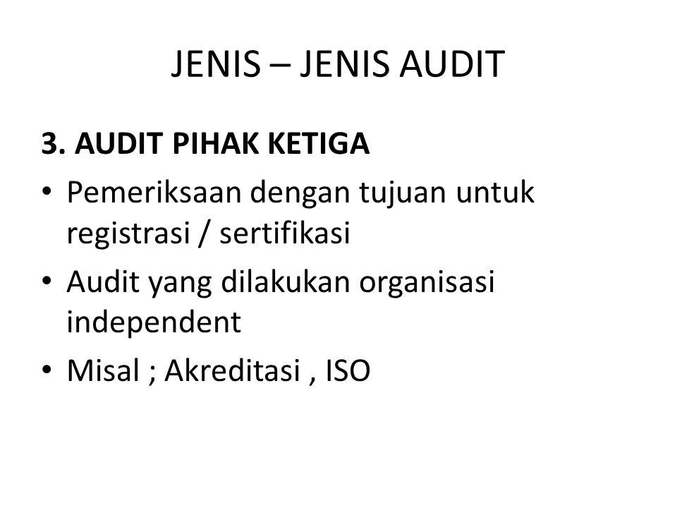 JENIS – JENIS AUDIT 3. AUDIT PIHAK KETIGA