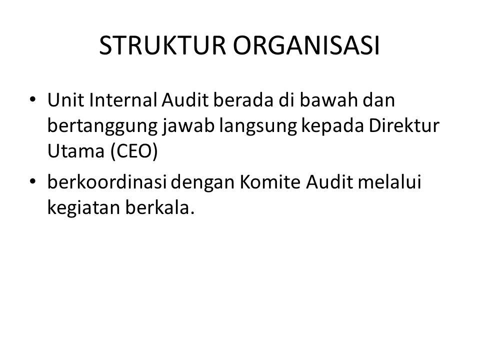 STRUKTUR ORGANISASI Unit Internal Audit berada di bawah dan bertanggung jawab langsung kepada Direktur Utama (CEO)