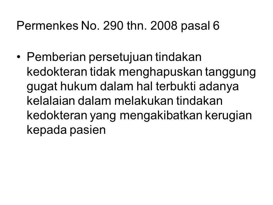 Permenkes No. 290 thn. 2008 pasal 6