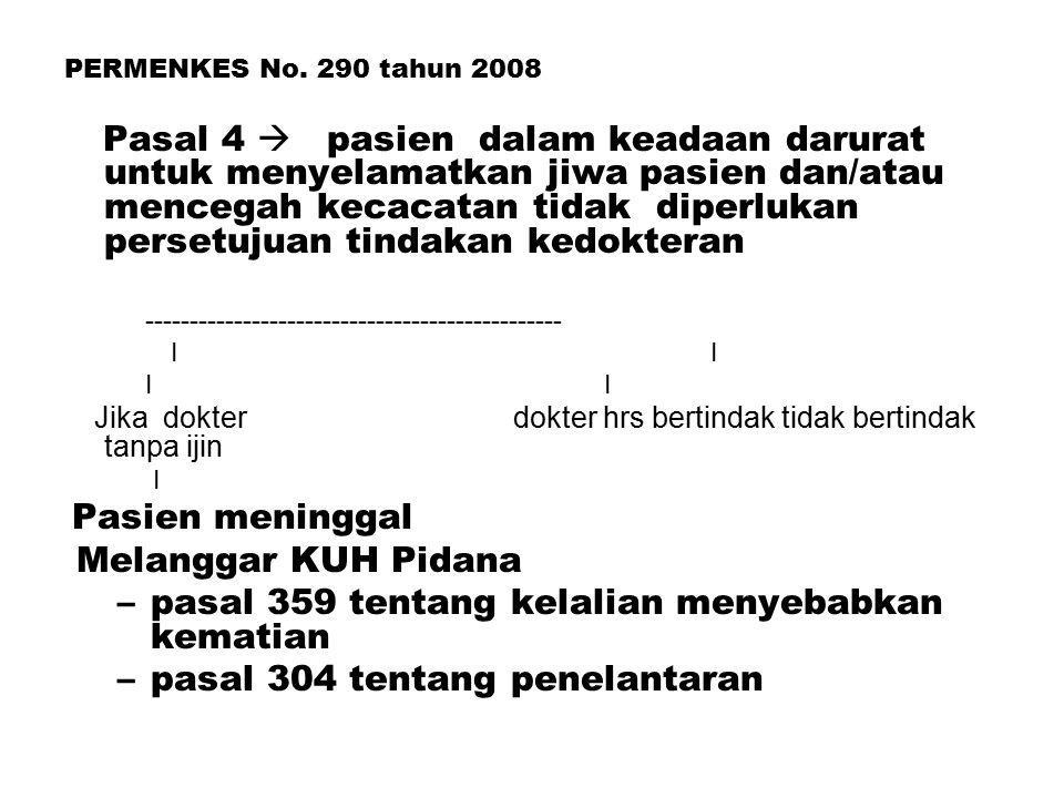 pasal 359 tentang kelalian menyebabkan kematian
