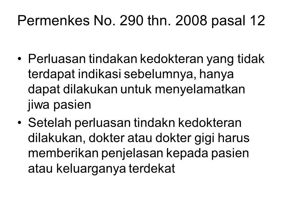 Permenkes No. 290 thn. 2008 pasal 12