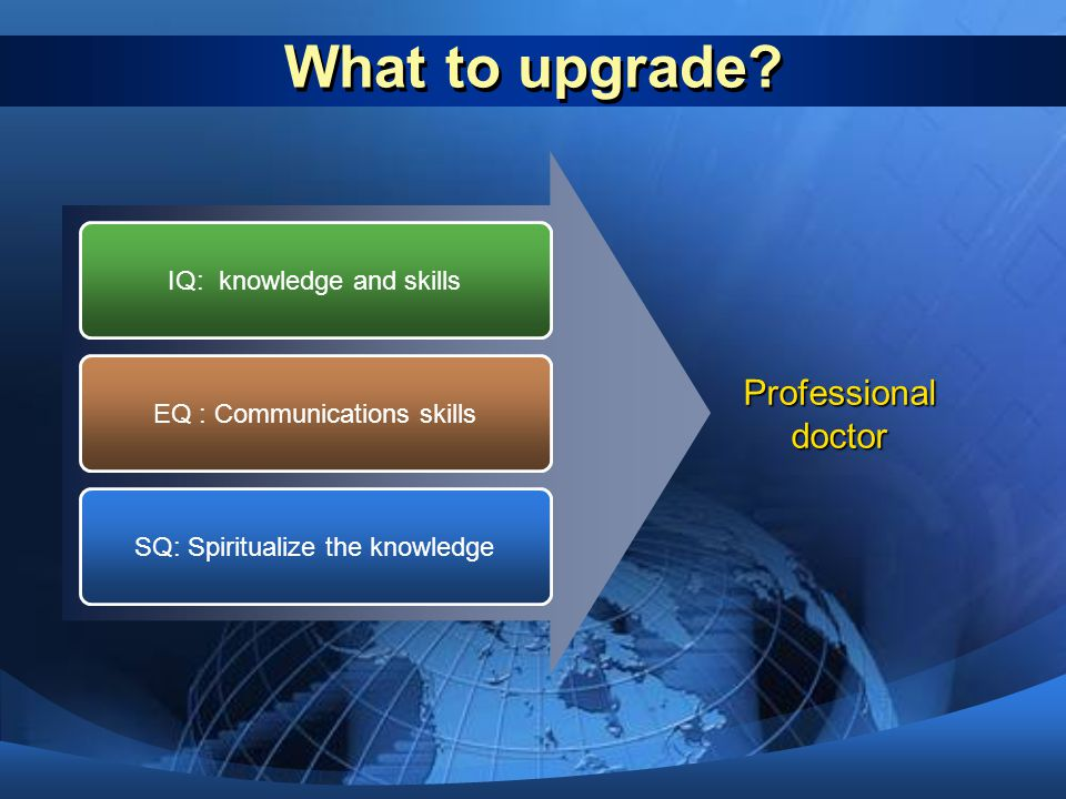 What to upgrade Professional doctor IQ: knowledge and skills