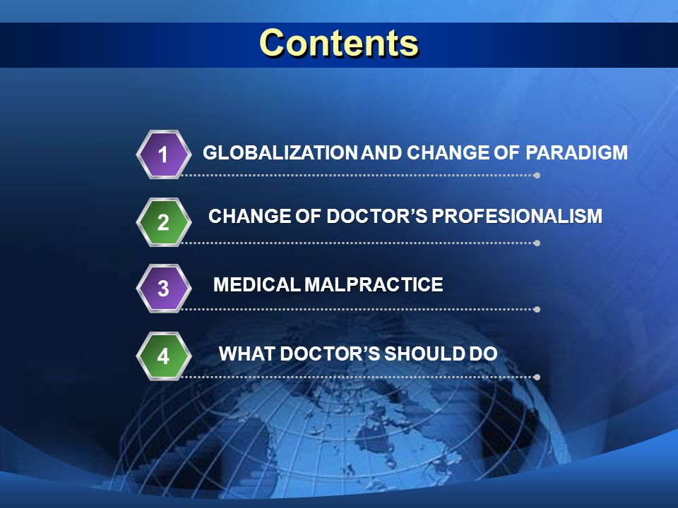Contents 1 2 3 4 GLOBALIZATION AND CHANGE OF PARADIGM