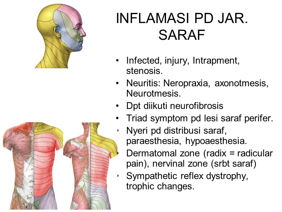 INFLAMASI PD JAR. SARAF Infected, injury, Intrapment, stenosis.