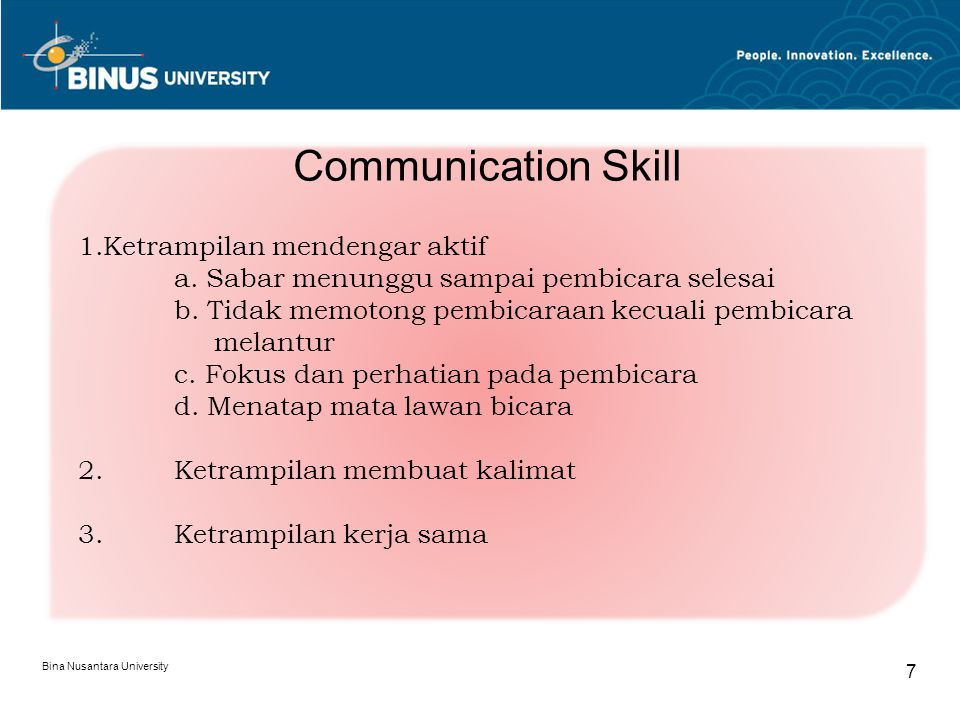 Communication Skill Ketrampilan mendengar aktif