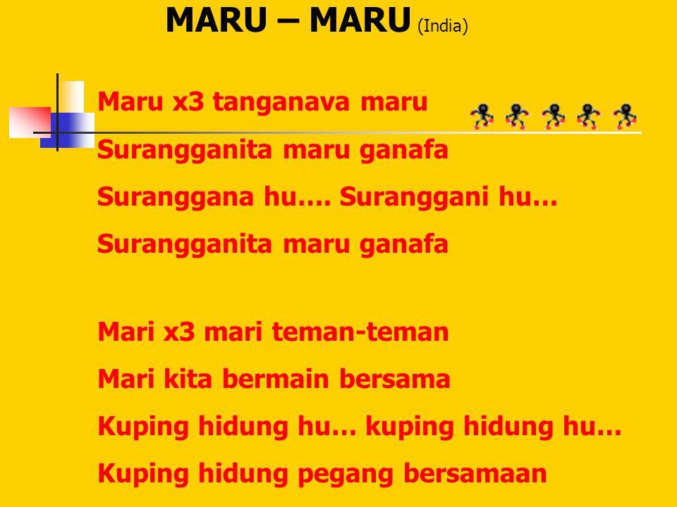 MARU – MARU (India) Maru x3 tanganava maru Surangganita maru ganafa
