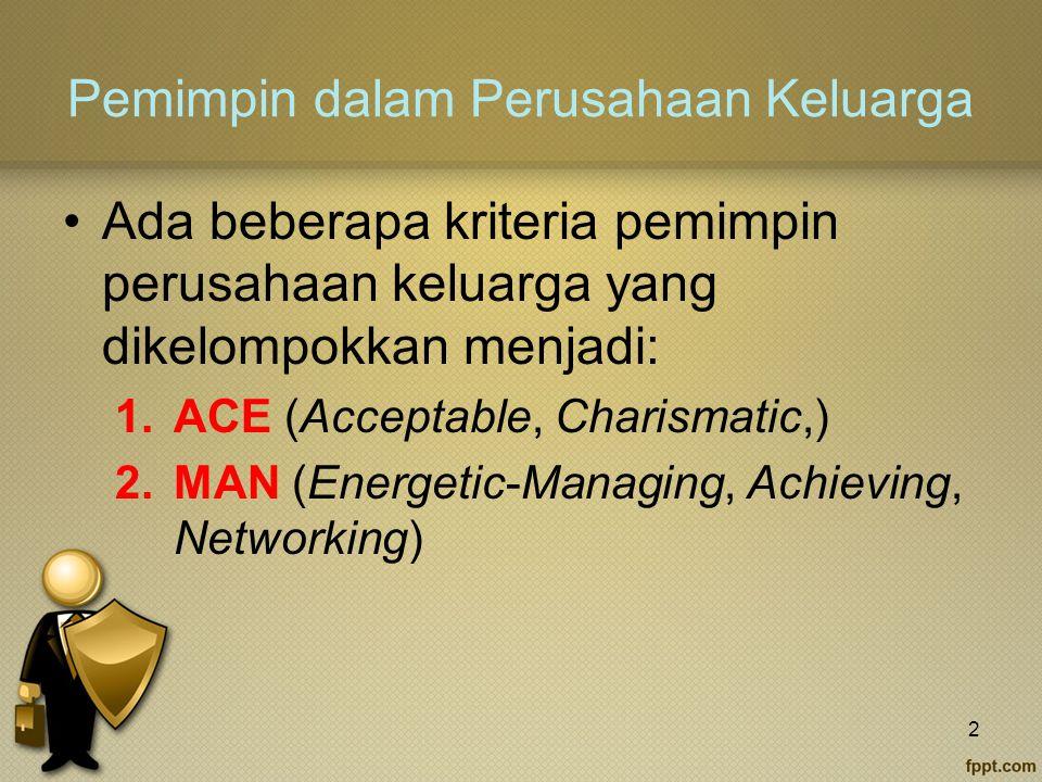 Pemimpin dalam Perusahaan Keluarga