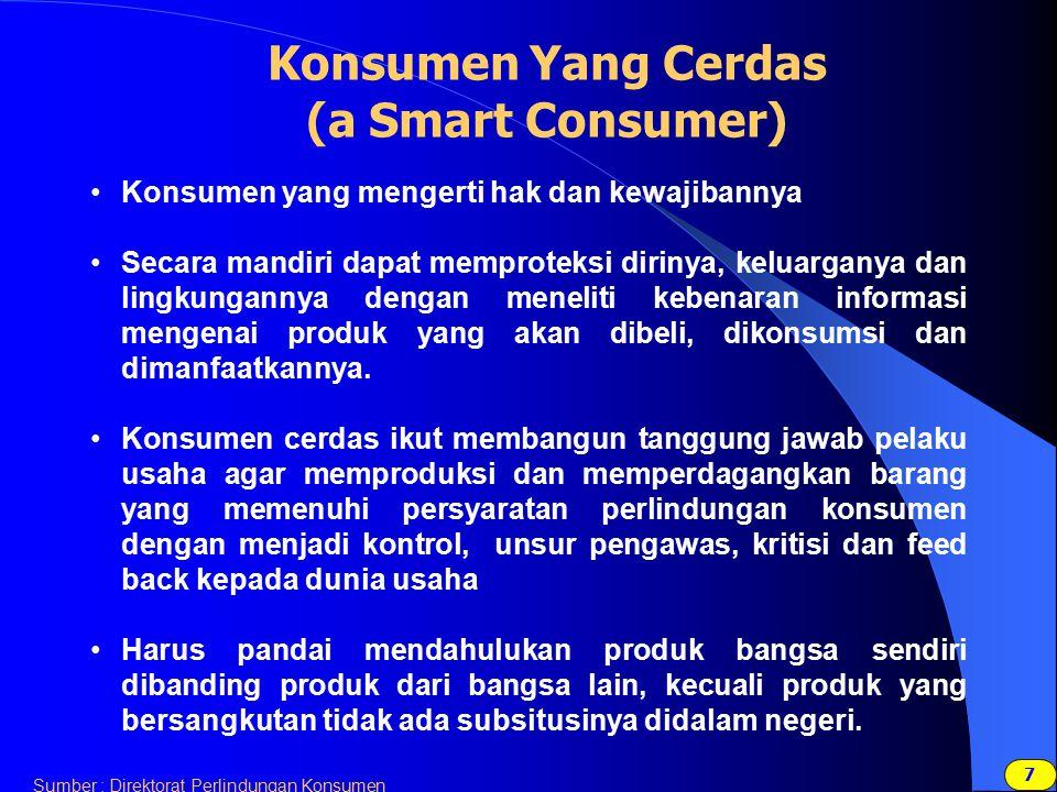 Konsumen Yang Cerdas (a Smart Consumer)
