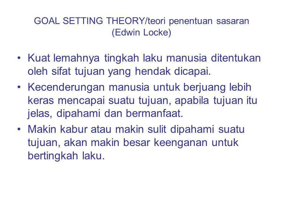 GOAL SETTING THEORY/teori penentuan sasaran (Edwin Locke)
