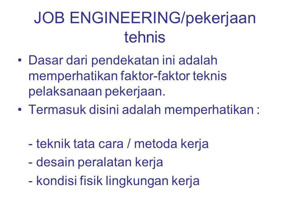 JOB ENGINEERING/pekerjaan tehnis