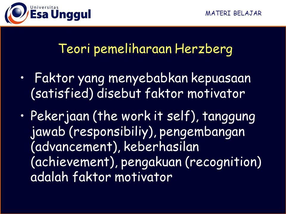 Teori pemeliharaan Herzberg