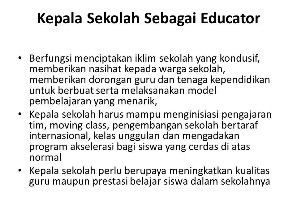 Kepala Sekolah Sebagai Educator