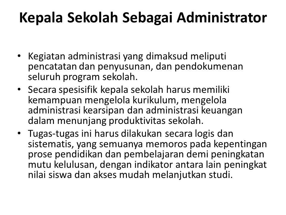 Kepala Sekolah Sebagai Administrator