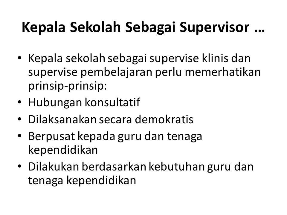 Kepala Sekolah Sebagai Supervisor …