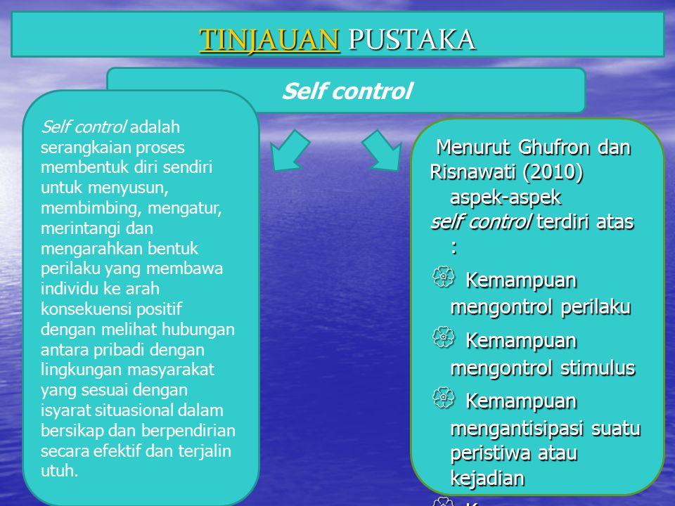  Kemampuan mengontrol perilaku  Kemampuan mengontrol stimulus