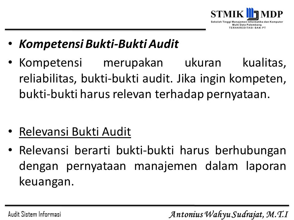 Kompetensi Bukti-Bukti Audit