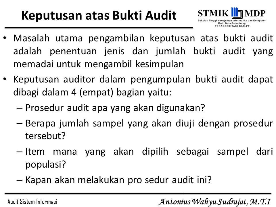 Keputusan atas Bukti Audit