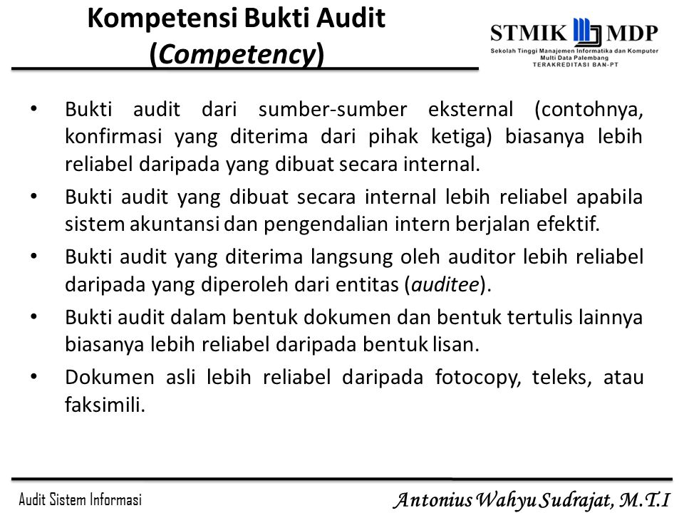 Kompetensi Bukti Audit (Competency)