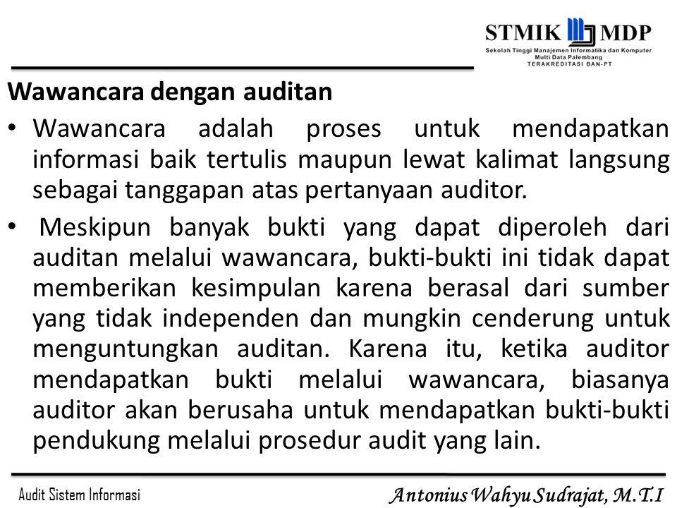 Wawancara dengan auditan