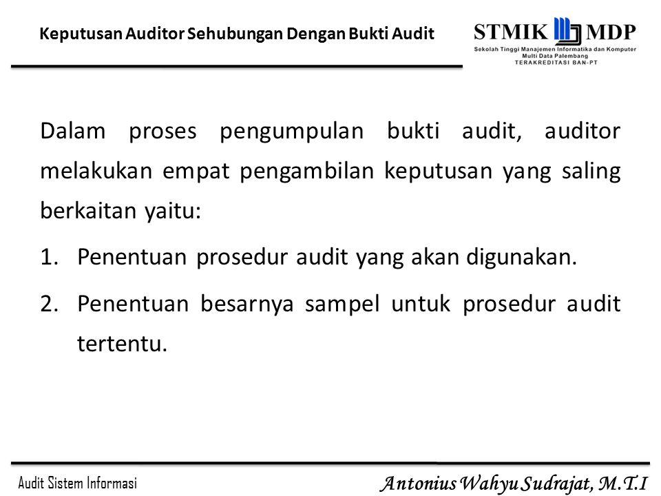 Keputusan Auditor Sehubungan Dengan Bukti Audit
