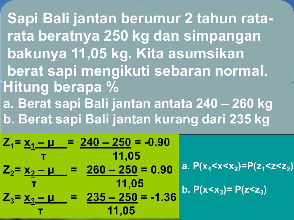 Sapi Bali jantan berumur 2 tahun rata-