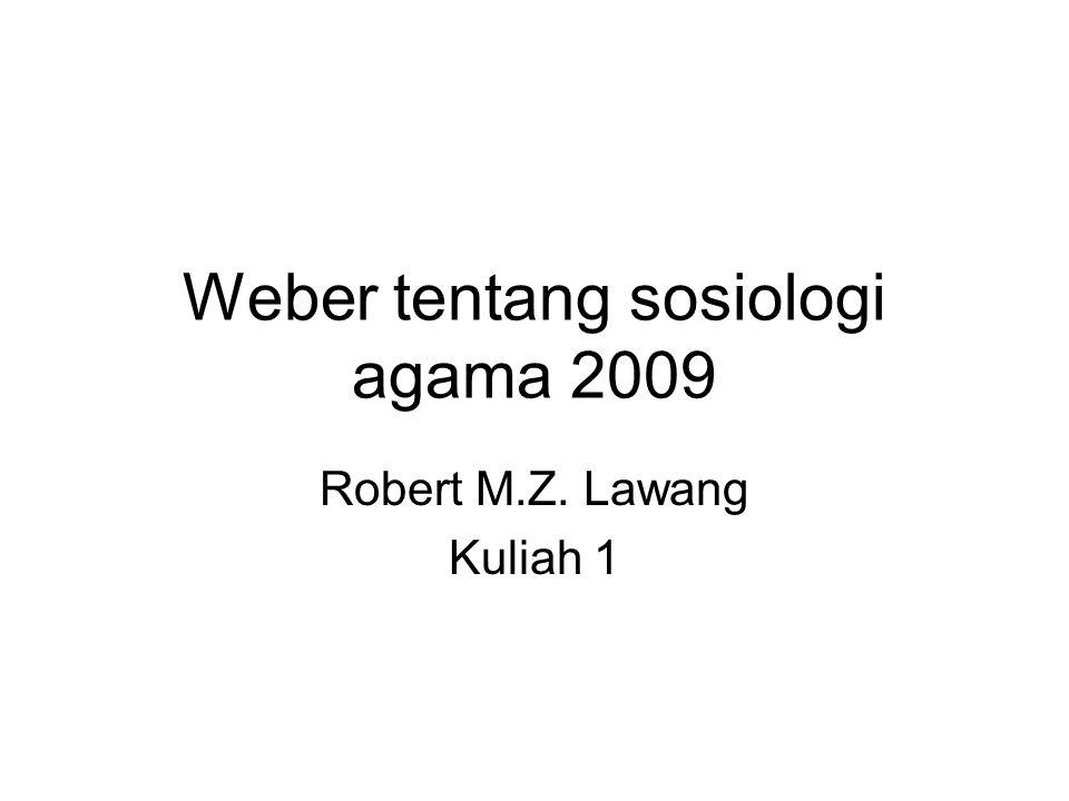 Weber tentang sosiologi agama 2009
