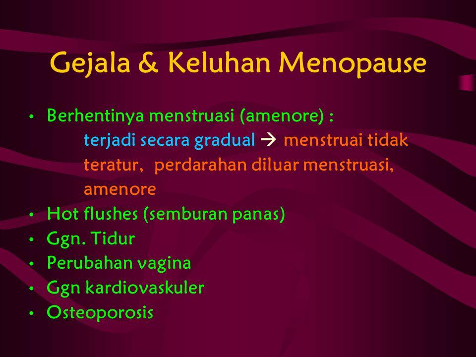 Gejala & Keluhan Menopause