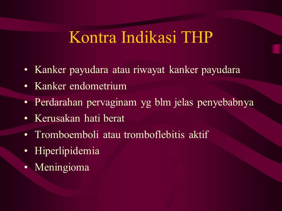 Kontra Indikasi THP Kanker payudara atau riwayat kanker payudara