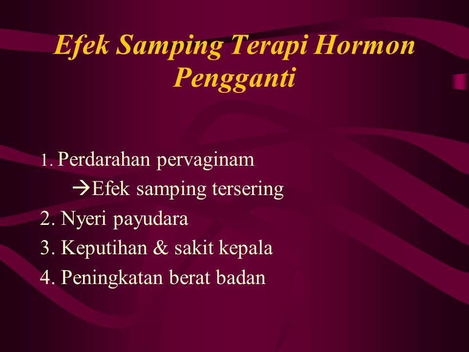 Efek Samping Terapi Hormon Pengganti