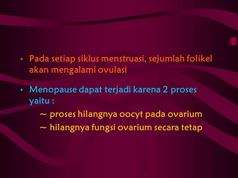 Pada setiap siklus menstruasi, sejumlah folikel akan mengalami ovulasi