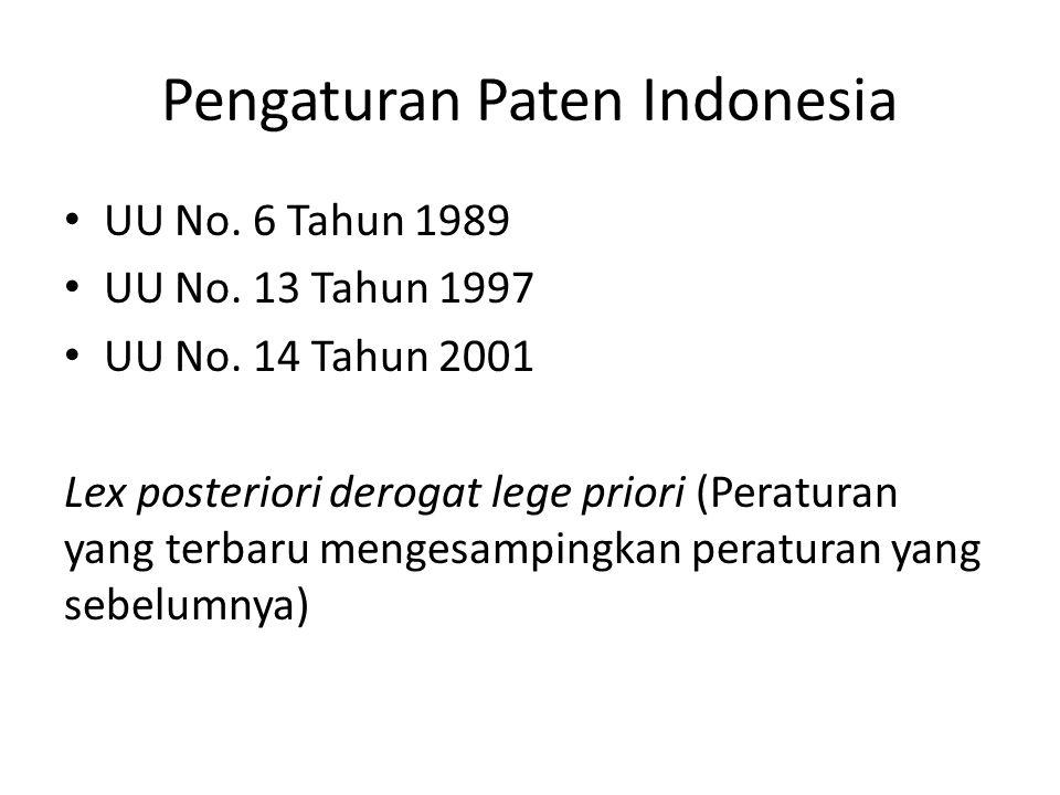 Pengaturan Paten Indonesia