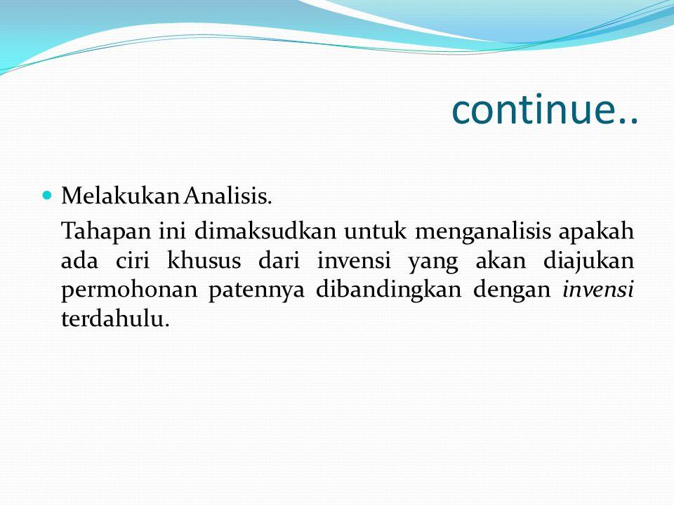 continue.. Melakukan Analisis.